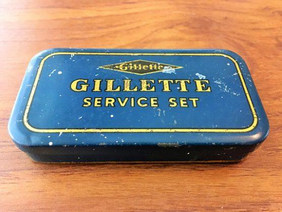 Gillette Service Set Tin