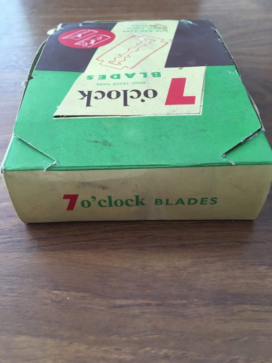 Vintage 7 O Clock Razor Blade Display
