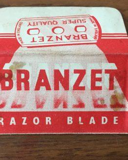 Vintage Branzet Razor Blade Wrapper