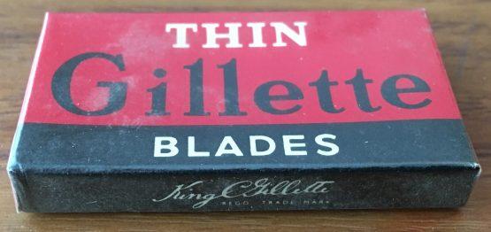 Vintage Gillette Thin Razor Blades